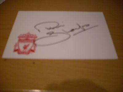 signed card of ex liverpool footballer phil thompson