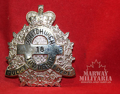 WHITCHURCH Ontario TOWNSHIP POLICE DEPARTMENT  number 18 Cap Badge  (inv 8340)