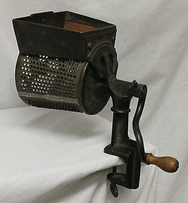 Extra Large Cheese or Food Grater – Cast Iron and Metal – 1872