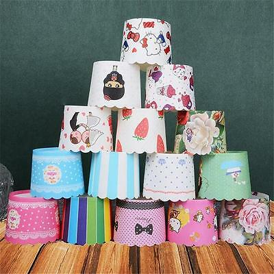 50pcs Paper Cupcake Liner Cake Case Muffin Baking Cup Wedding Xmas Party 7v