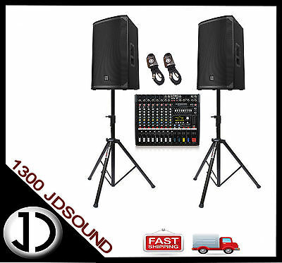 EV EKX15P powered speakers and Dynacord CMS600 mixer with FX NEW
