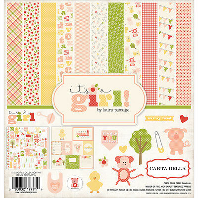 """""""Carta Bella Collection Kit 12""""""""X12""""""""-It's A Girl"""""""