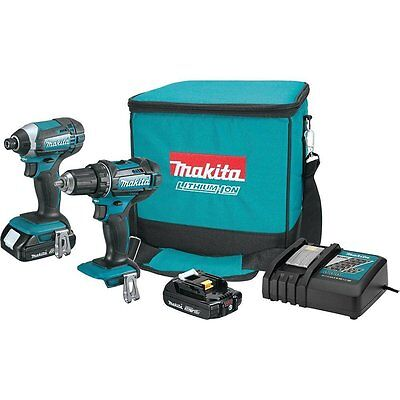 MAKITA ct225r lithium-ion drill/driver & impact driver combo 18v 18 volt w/wrnt