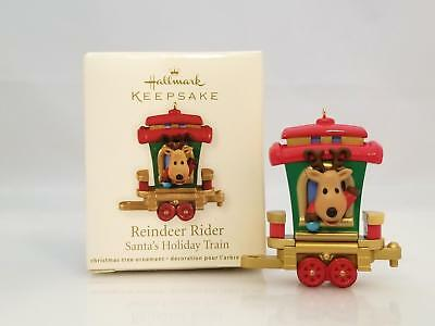 Hallmark Miniature Ornament 2011 Reindeer Rider Santa's Holiday Train QRP5917SDB