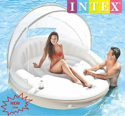 """New Genuine Intex Giant Canopy Pool Inflatable Swimming POOL CHAIR LOUNGE """"HUGE"""""""