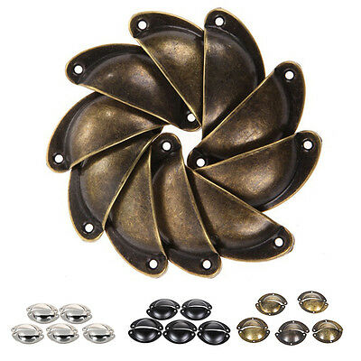 Hot Vintage Wrought Iron Drawer Pull Door Handle Unique Cabinet Cupboard 10x
