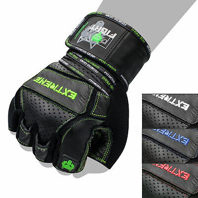 FOX-FIGHT EXTREME R B Fitness Kraftsport Trainings Handschuhe Echtes Leder