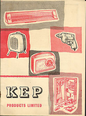 k.e.p. ( london )  products catalogue 1950s or 60s ?