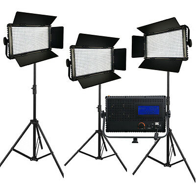 3xLED576AL LED-Studio-Panel Licht LCD Touch Screen dimmbare Frühjahr stehen