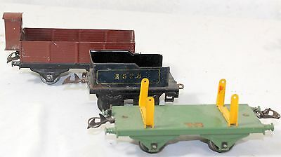Ancien  HORBNY Meccano Lot de 3 wagons