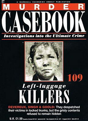 MURDER CASEBOOK # 109 * Left-Luggage Killers * True Crime Magazine *