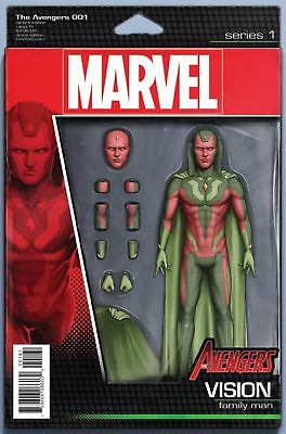 The Avengers #1 Action Figure Variant (Marvel 2016 1St Print) Now Comic