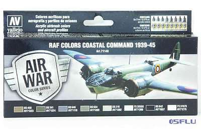 Vallejo 71148 - 8 x17ml - RAF Coastal Command 1939-1945 - Farbenset - NEU!