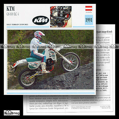 #027.03 KTM GS 600 LC4 1991 Fiche Moto Off-Road Motorcycle Card