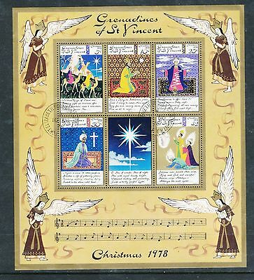 Grenadines of St Vincent 1978 Christmas MS used