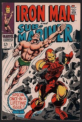 Iron Man and Sub-Mariner #1 VG+ 4.5 Off White Pages