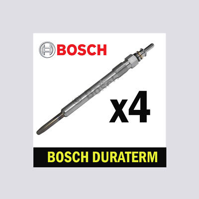 4x Bosch Glow Plugs for CITROEN BERLINGO 1.9 CHOICE2/2 Multispace D DW8 Mk1 Van