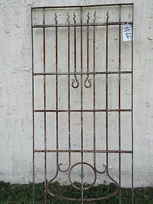 Antique Victorian Iron Gate Window Garden Fence Architectural Salvage Door #66