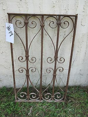 Antique Victorian Iron Gate Window Garden Fence Architectural Salvage Door #19