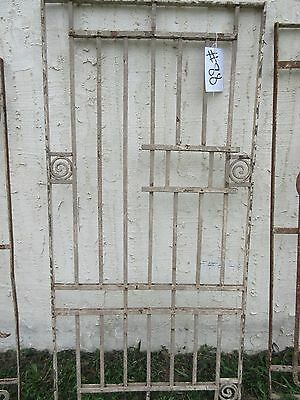 Antique Victorian Iron Gate Window Garden Fence Architectural Salvage Door #88