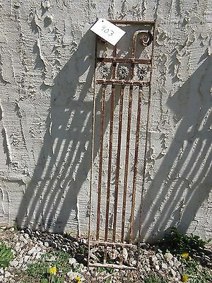 Antique Victorian Iron Gate Window Garden Fence Architectural Salvage Door #403
