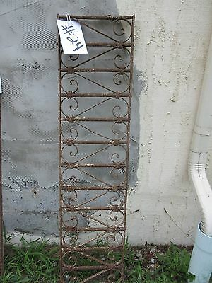 Antique Victorian Iron Gate Window Garden Fence Architectural Salvage Door #24