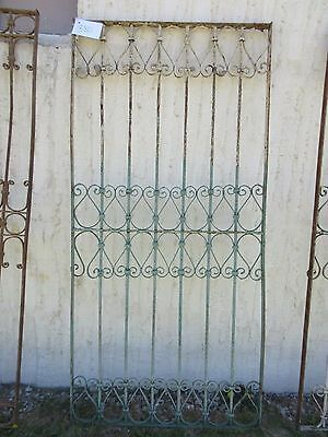 Antique Victorian Iron Gate Window Garden Fence Architectural Salvage Door #380