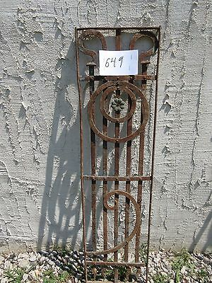 Antique Victorian Iron Gate Window Garden Fence Architectural Salvage Door #649