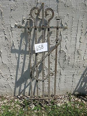 Antique Victorian Iron Gate Window Garden Fence Architectural Salvage Door #658