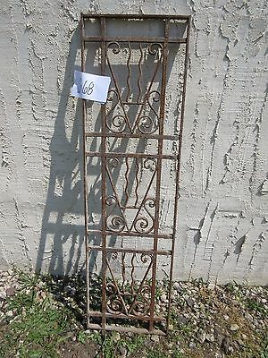 Antique Victorian Iron Gate Window Garden Fence Architectural Salvage Door #668