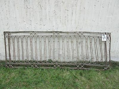 Antique Victorian Iron Gate Window Garden Fence Architectural Salvage Door #92