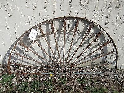 Antique Victorian Iron Gate Window Garden Fence Architectural Salvage Door #359
