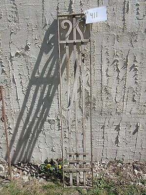 Antique Victorian Iron Gate Window Garden Fence Architectural Salvage Door #411