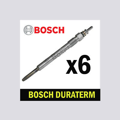 6x Bosch Glow Plugs for CHRYSLER 300C 3.0 CRD EXL LX 218bhp