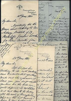 1880-84 ISLAND of MULL, six Letters from Maclean, Pennycross House, Pennyghael