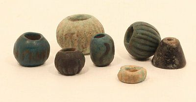 Egyptian  2300-1600 bc faience bead group