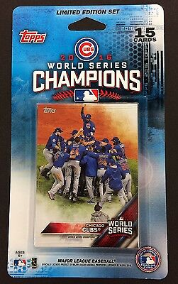2016 Topps Chicago Cubs World Series Champions 15-Card Baseball Team Set