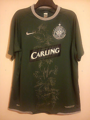 Celtic Fully Signed Away Football Shirt 2007 Lisbon Lions Size L Coa Vvgc