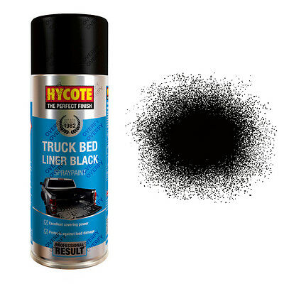 x2 Hycote® 400ml Black Truck Bed Liner Aerosol Car Spray Paint Tough Acrylic