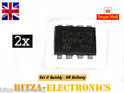 2 x TDA2822M Dual Audio POWER AMPLIFIER IC TDA2822 from UK Seller