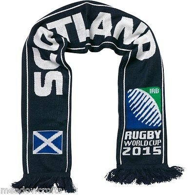 Scotland Scarf NEW Navy Mens World Cup 2015 Six Nations Rugby Union