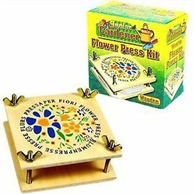 New Wooden Flower Press Kit Children's Craft For Leaves Petals Traditional Pw