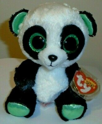 """Ty Beanie Boos - YUMI the 6"""" Panda Bear ~ Justice Exclusive ~ 2016 NEW ~ IN HAND"""