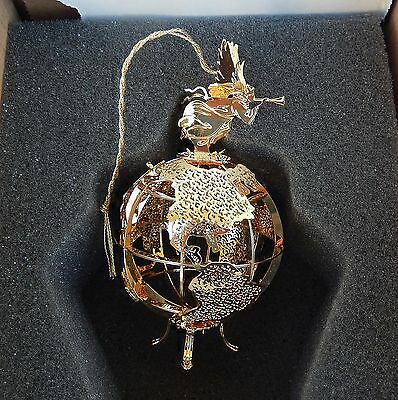 Danbury Mint Annual 2000 JOY TO THE WORLD Gold Plated Christmas Ornament