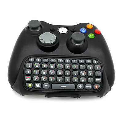 Wireless Controller Messenger Game Keyboard Keypad ChatPad For XBOX 360 Black LK