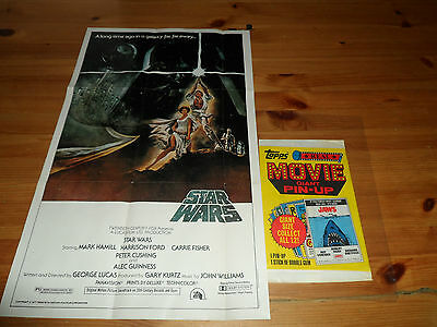 "1981 Topps Movie Giant Size Pin-up 12"" X 19 3/4 "" Poster Star Wars"
