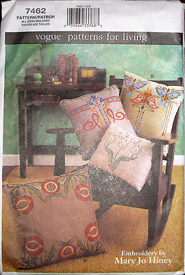 VOGUE Mission Style Decorative Embroidered Pillows Pattern 7462 UNCUT