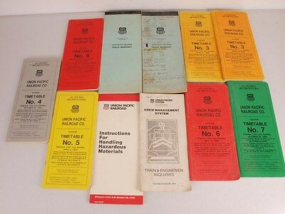 Misc. Lot of Union Pacific UP Timetables Track Warrant Inquiries 1986/87/88/89