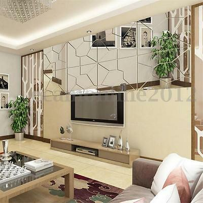 Fashion 3D Mirror DIY Removable Wall Home Decal Mural Decor Vinyl Art Stickers
