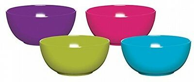 Kitchen Craft Colourworks Melamine Bowls, 15 Cm - Set Of 4